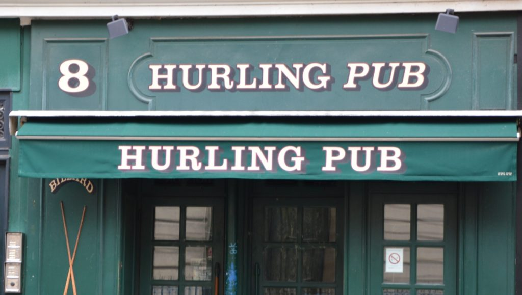 Le hurling pub à Paris